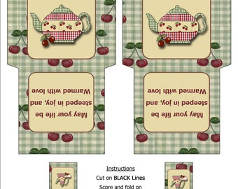 DIY Tea Bag Envelope Digital Download DT003