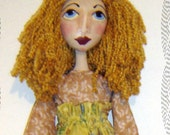 "Made to Order, 30"" Mary Jo Doll, Folk Art Doll, Primitive, Whimsical, HAFAIR, Artful Zeal"