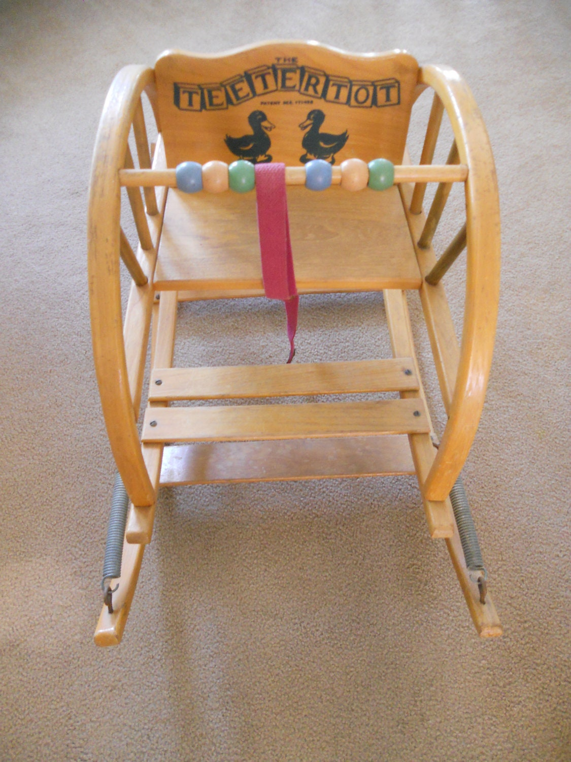 Antique Rocker Baby Bouncer Teeter Totter Mid Century