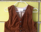 Little Man Suede Vest