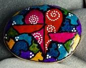 Enchanted/ Painted Rock / Sandi Pike Foundas / Cape Cod Sea Stone