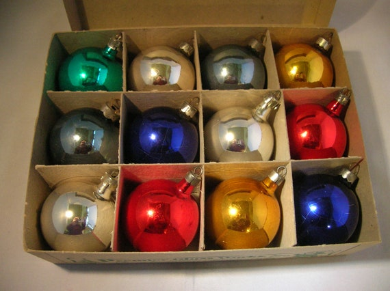 Premier Glass Works Christmas Ornaments Solid Color Glass Balls