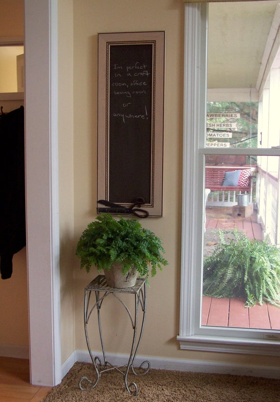 13 X 35 Chalkboard From Upcycled Cabinet Door