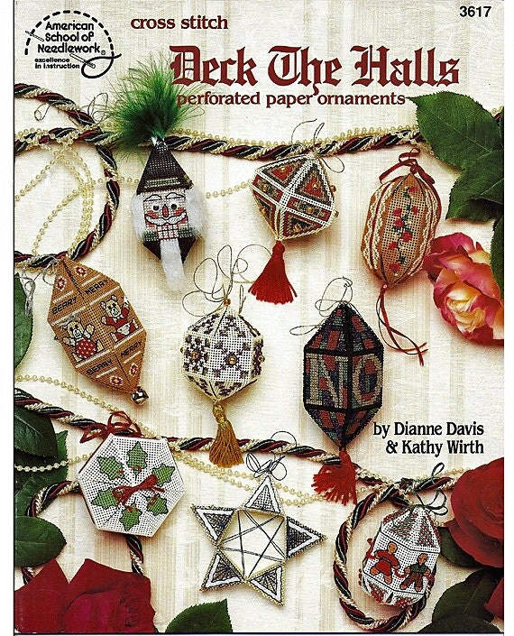 Deck the Halls perforated paper ornaments American school of Needlework 3617