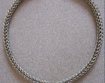 Thane Chainmaille and Genuine Pyrite Necklace