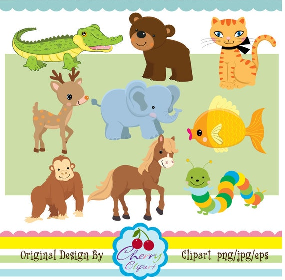 A-Z Alphabet Animals digital clipart set for -Personal and Commercial Use-paper crafts,card making,scrapbooking,web design