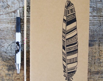 Feather Moleskine, Hand Illustrated