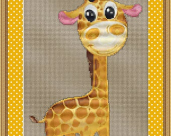 Cross Stitch Pattern Baby Giraffe Instant Download PdF