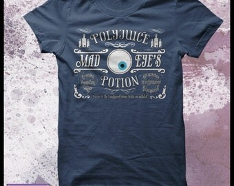 Harry Potter tshirt polyjuice potion Mad eye Moody Mens