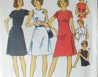 You get an A ---Line dress Jiffy pattern Simplicity 6080 size 14