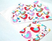 Baby Shower Gift Set Baby Bird Theme Animal Theme Bib and Burp Cloth