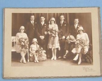 1920s Art Deco Wedding Photo by Greaves of 55 New Street Huddersfield - Bentley Ogden & Willie Naylor