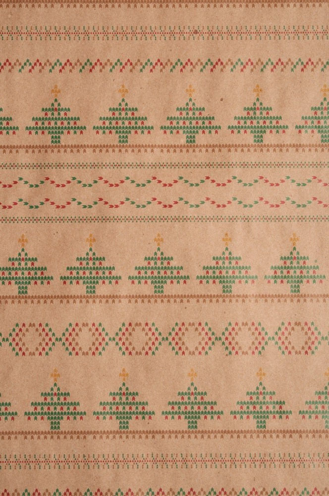Christmas Knit Pattern Wrapping Paper by NormansPrintery ...