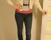Vintage Cream Colored Cardigan with Pearl Beading