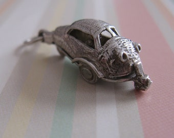 Bubble Car Opening Charm / Pendant Vintage Sterling Silver