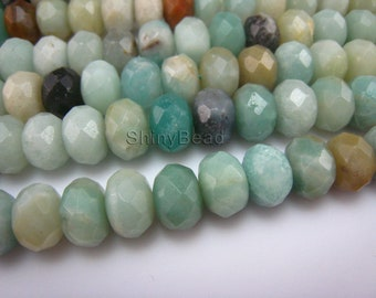 Chinese amazonite faceted 10x6mm 15 inch strand