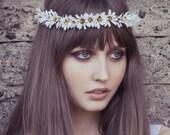 Daisy Chain Flower crown, flower headband, Daisy headband, coachella flower crown,wedding crown, bridal crown,festival crown