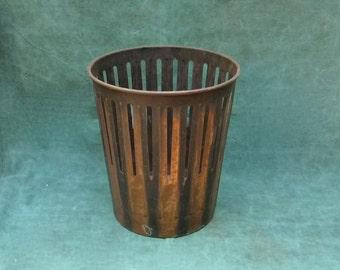 1900s Erie Art Metal Co. DAN DEE Steel Trash Can