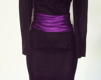 Black Velvet Cocktail Dress size S