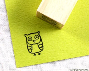 cute owl O01 Small Rubber Stamp