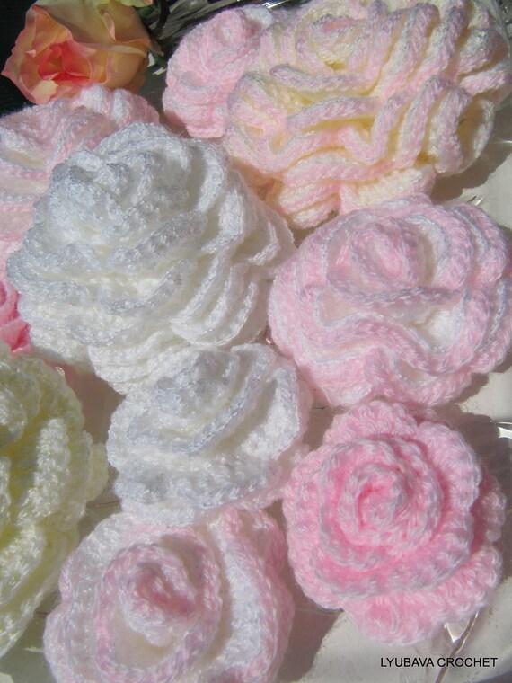 CROCHET FLOWER PATTERN, Beautiful Crochet Rose Easy Pattern, Unique Crochet Flowers, Diy Flowers Instant Digital Download Pdf Pattern No. 46