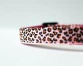 """Ribbon - Pink Leopard / Cheetah Print - Destash - 3/8"""""""