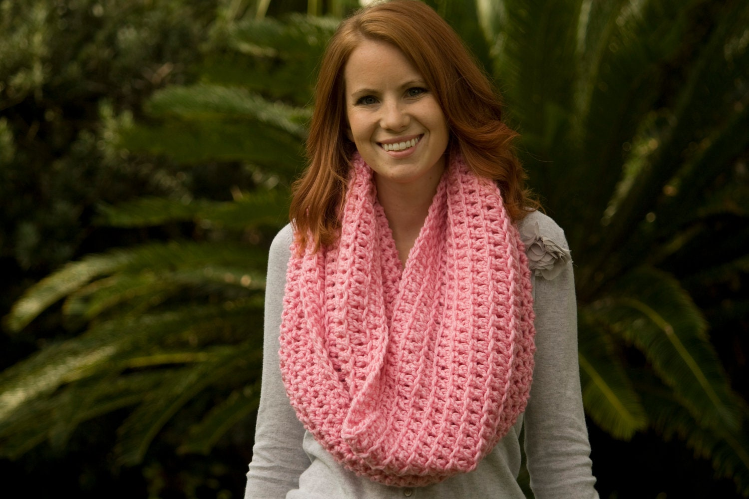 hooded scarf: NEW 235 OVERSIZED HOODED INFINITY SCARF COWL CROCHET ...