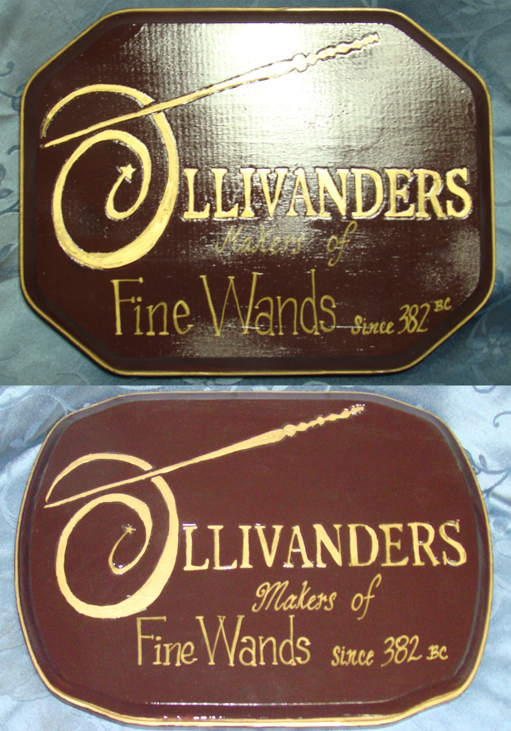 Handcrafted Harry Potter OLLIVANDERS WAND Shop Wooden Sign