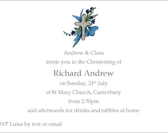 Baby Boy Personalized Christening /baptism invitation with envelopes ...