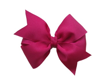Dark red hair bow - girls hair bows, toddler hair bows, baby bows, 4 inch hair bows, big hair bows, toddler bows, girls bows, hair bows