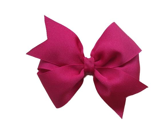 Dark red hair bow - maroon hair bow, cranberry hair bow, 4 inch hair bow
