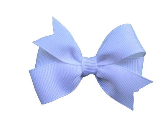 3 inch white hair bow - white bow, 3 inch bows, white hair bows, girls hair bows, toddler bows, baby bows, girls bows, hair clips
