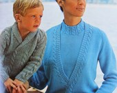 Bernat Cables and Raglans for the Family Knitting Vintage 1966 Patterns Book 130
