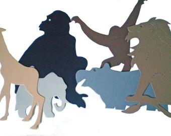 Die Cut Safari/Jungle Animals