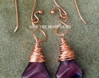 Purple Arrows Wrapped in Copper