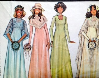 1970s wedding dress pattern