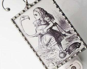 Alice in Wonderland Night Light - Nightlight with Storybook Illustration - Nursery Gift N60