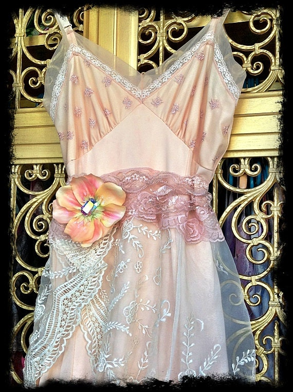 peaches & cream embroidered organza chiffon petticoat marie antoinette dress by mermaid miss k