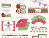 Cookies & Hot Cocoa PRINTABLE Holiday Christmas Cookie Party Collection