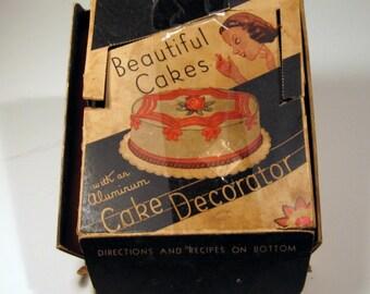 Vintage 1950's Beautiful Cakes Aluminum Cake Decorator