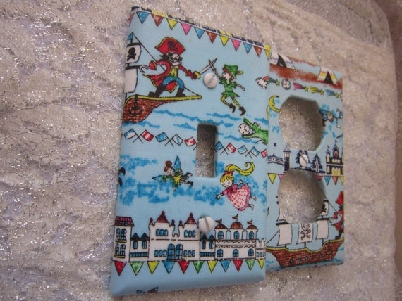 SALE Light Switch Cover - Light Switch Plate Outlet Cover in Neverland