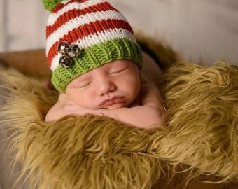 Newborn Photo Props and Hand Knit Baby Hats by smittenwithknitn