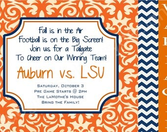 Auburn WAR EAGLE Tailgate Invitation
