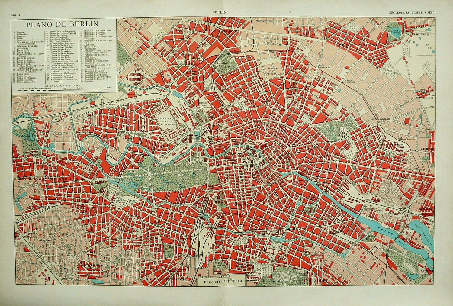 1900 antique rare city map of berlin germany 112 years old. Black Bedroom Furniture Sets. Home Design Ideas