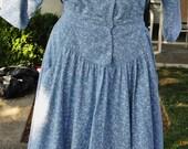 """Vintage Slate Blue Dress by """"Jodi Schwartz for Bill Berman"""""""