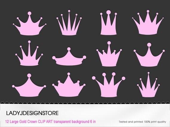 GLITTER Crown Clip Art 12 Digital Clipart Glitter Crowns for