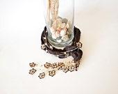 Crochet Necklace, Silk Necklace, Flowers Oya Dark Brown Silk Necklace Beaded Jewelry Foulard Scarf, Beadwork, ReddApple, Fast Delivery