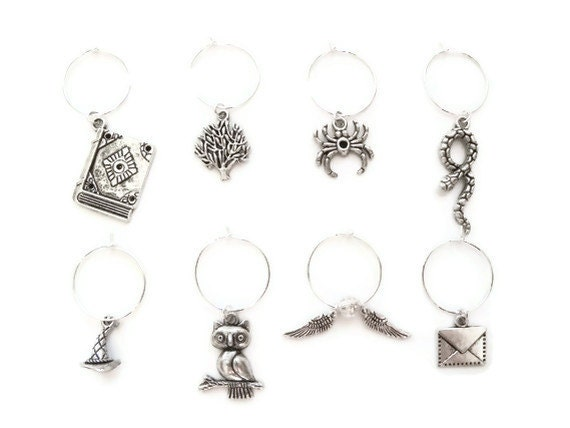 harry potter wine charms