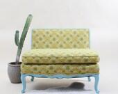 Vintage Upholstered Miniature Love Seat