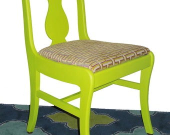 ON HOLD Vintage Refurbished Neon Dining Chairs Set of 4